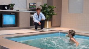 Person in HydroWorx Pool with Professional Coaching