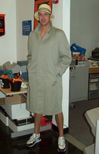 Person in a trench coat