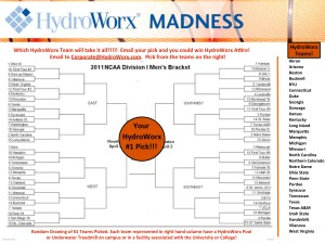 HydroWorx Madness brackets graphic