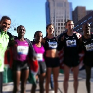 A group of marathon runners