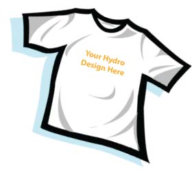 HydroWorx T-shirt graphic - add your own design