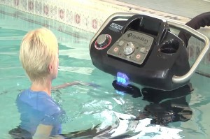 Person using HydroWorx Water equipment