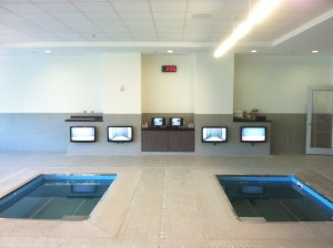 Two water therapy pools at HydroWorx
