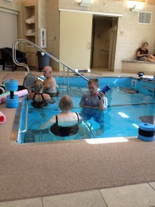 Group of People doing water therapy
