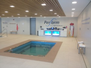 The HydroWorx therapy pool at St. George's Park.