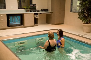 HydroWorx aquatic therapy pool with underwater treadmill