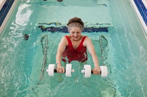 Aquatic Exercise in the HydroWorx 500 Series pool