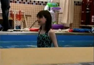 Lauren in pool