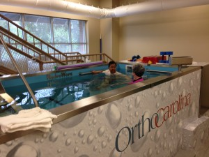 HydroWorx pool at Ortho Carolina