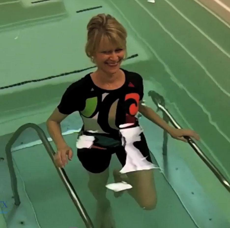 Judy Bryan rehabbing at Premier Rehabilitation