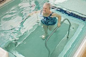 Underwater treadmill walking