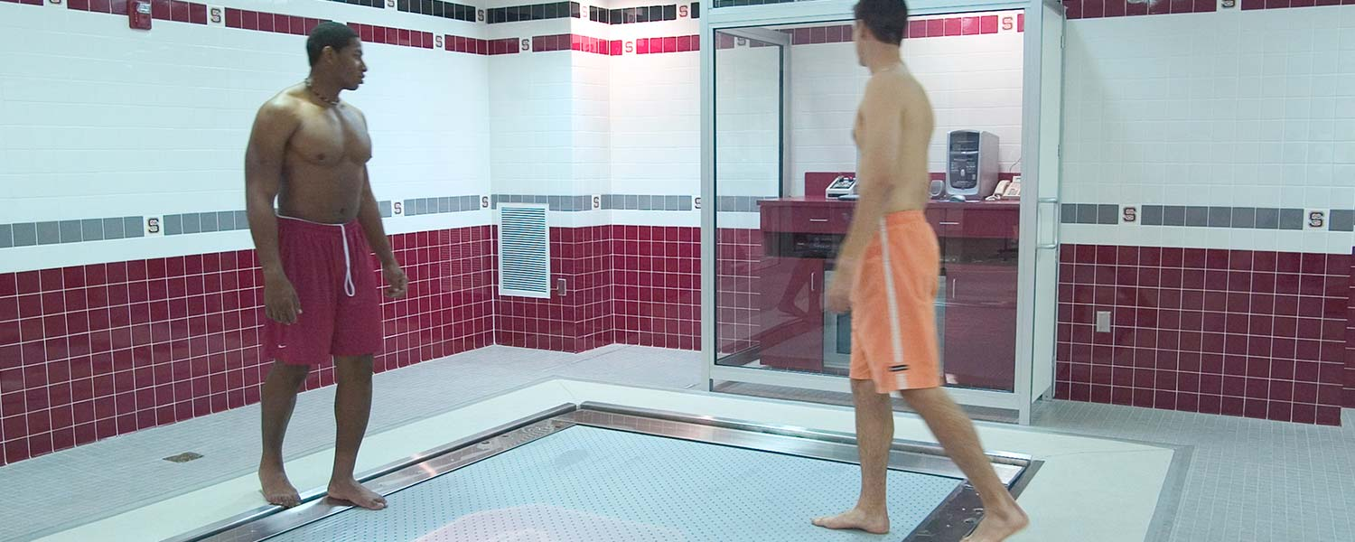 Two Athletes Using HydroWorx 2000 Fitness Pool