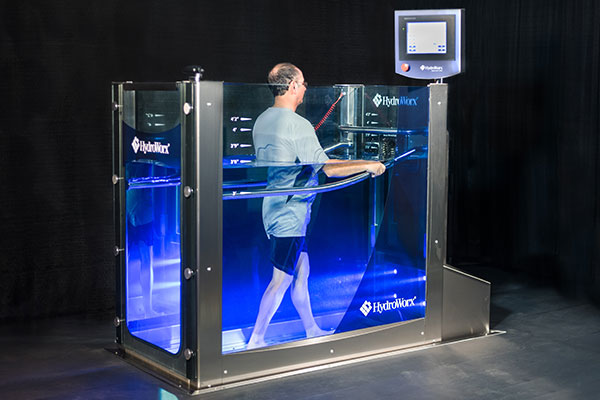 Person walking in HydroWorx trainer