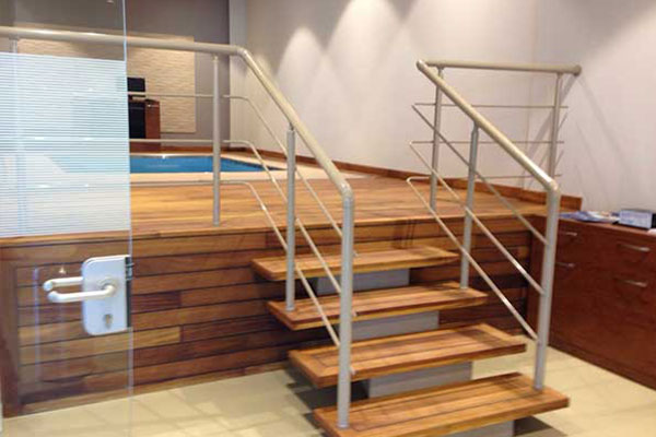 Stairway to HydroWorx Pool