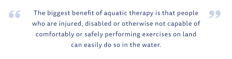 Aqua Therapy Benefits