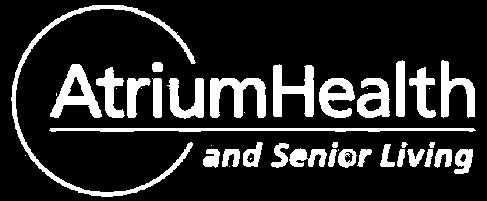 atrium health white logo