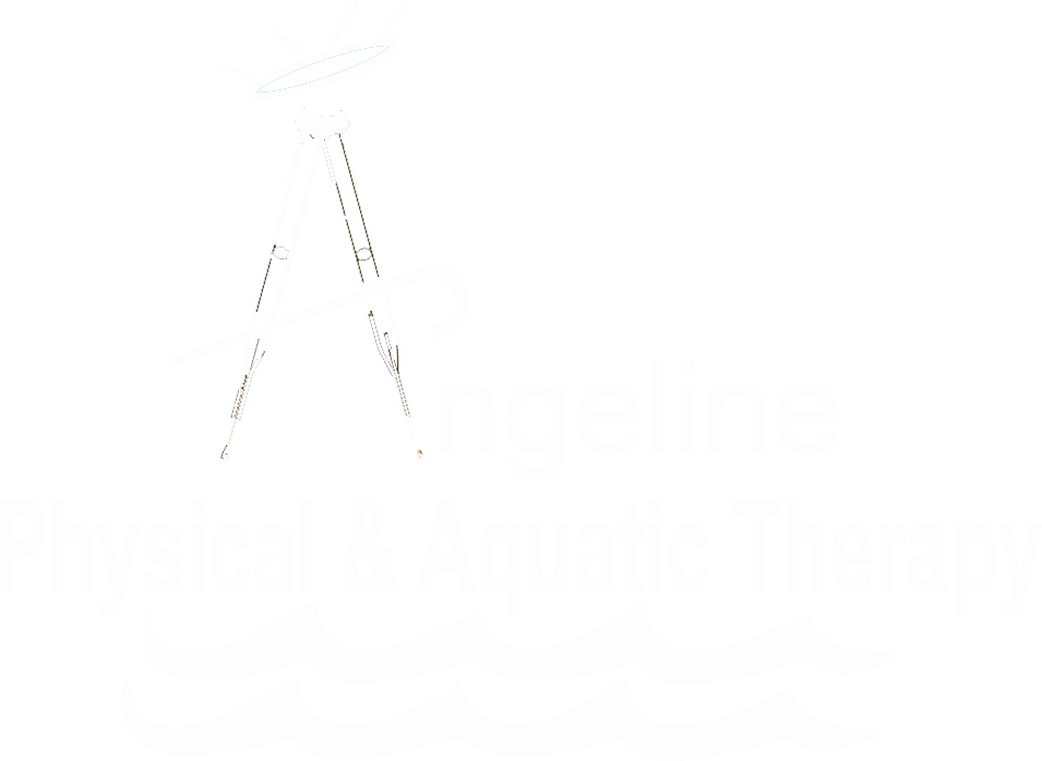 angeline physical & aquatic therapy white logo