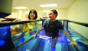 Aquatic therapy in HydroWorx 300