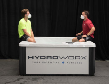 two young men using THRIVE Plunge
