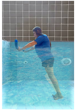 Exercises with a pool noodle