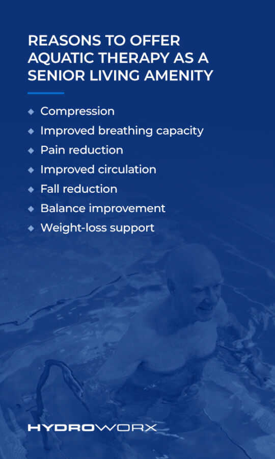 Reasons to Offer Aquatic Therapy as a Senior Living Amenity